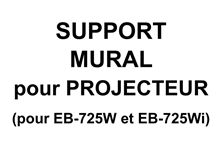 Support mural pour EB 725