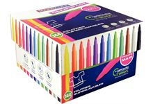 Classpack de 144 maxi feutres pointe large couleurs assorties