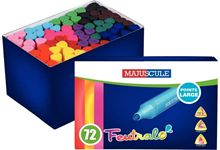 Pot de 72 feutres de coloriage triangulaires pointe ogive assortis