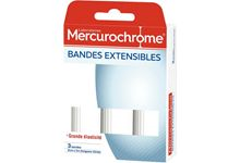 Lot de 3 bandes extensibles 2mx7cm