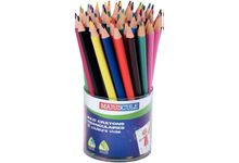 Pot de 48 crayons de couleur triangulaires pointe large assortis