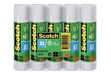 Lot de 5 bâtons de colle Scotch 21G, colle blanche.