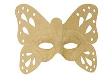 Lot de 6 masques papillon en carton.