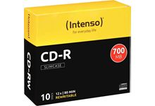 Paquet de 10 CD-R imprimables Intenso 700 Mo