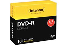 Paquet de 10  DVD-R Intenso 4,7 Go