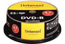 Spindle de 25  DVD-R Intenso 4,7 Go