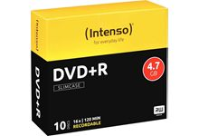 Paquet de 10  DVD+R Intenso 4,7 Go