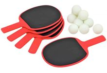 Set de 5 raquettes + 10 balles de tennis de table.