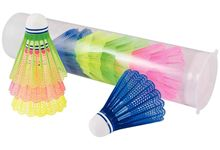 Tube de 12 volants badminton coloris assortis