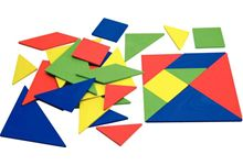 Lot de 4 tangrams en re-plactic 4 couleurs assorties