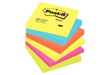 Paquet de 6 blocs notes de 100 feuilles Post-it énergie 76 x 76 mm assortis