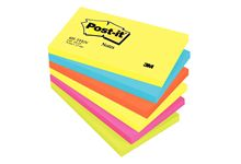 Paquet de 6 blocs notes de 100 feuilles Post-it énergie 76 x 127 mm assortis.