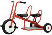 Tricycle 3/6 ans Carry 2 Places Rouge