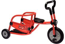 Tricycle 4/8 ans pompier rouge