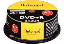 Spindle de 25 DVD+R imprimable Intenso 4,7 Go