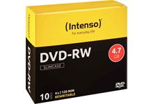 Spindle de 10 DVD-RW Intenso 4,7 Go