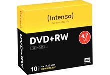 Spindle de 10 DVD+RW Intenso 4,7 Go
