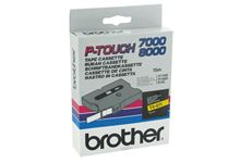 Recharge Brother TX611 noir / jaune pour Titreuse Brother.