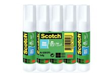 Lot de 5 bâtons de colle Scotch 8G, colle blanche.