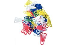 sachet de 100 attache lettres 25mm plastique couleurs assorties