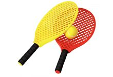 Lot de 6 raquettes Mini Tennis + 3 Balles.