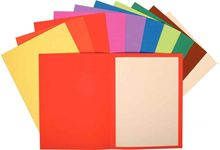 Paquet de 100 chemises rigides FLASH en carte recyclée 220g. 10 couleurs vives assorties.
