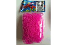 Sachet de 600 elastiq rainbow loom™ rose jelly