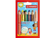 Etui 6 crayons de couleur woody + taille crayon