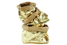 Paper bag medium gold