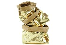 Paper bag small gold
